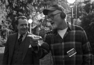 David Fincher pri výrobe filmu Mank © 2021 Netflix
